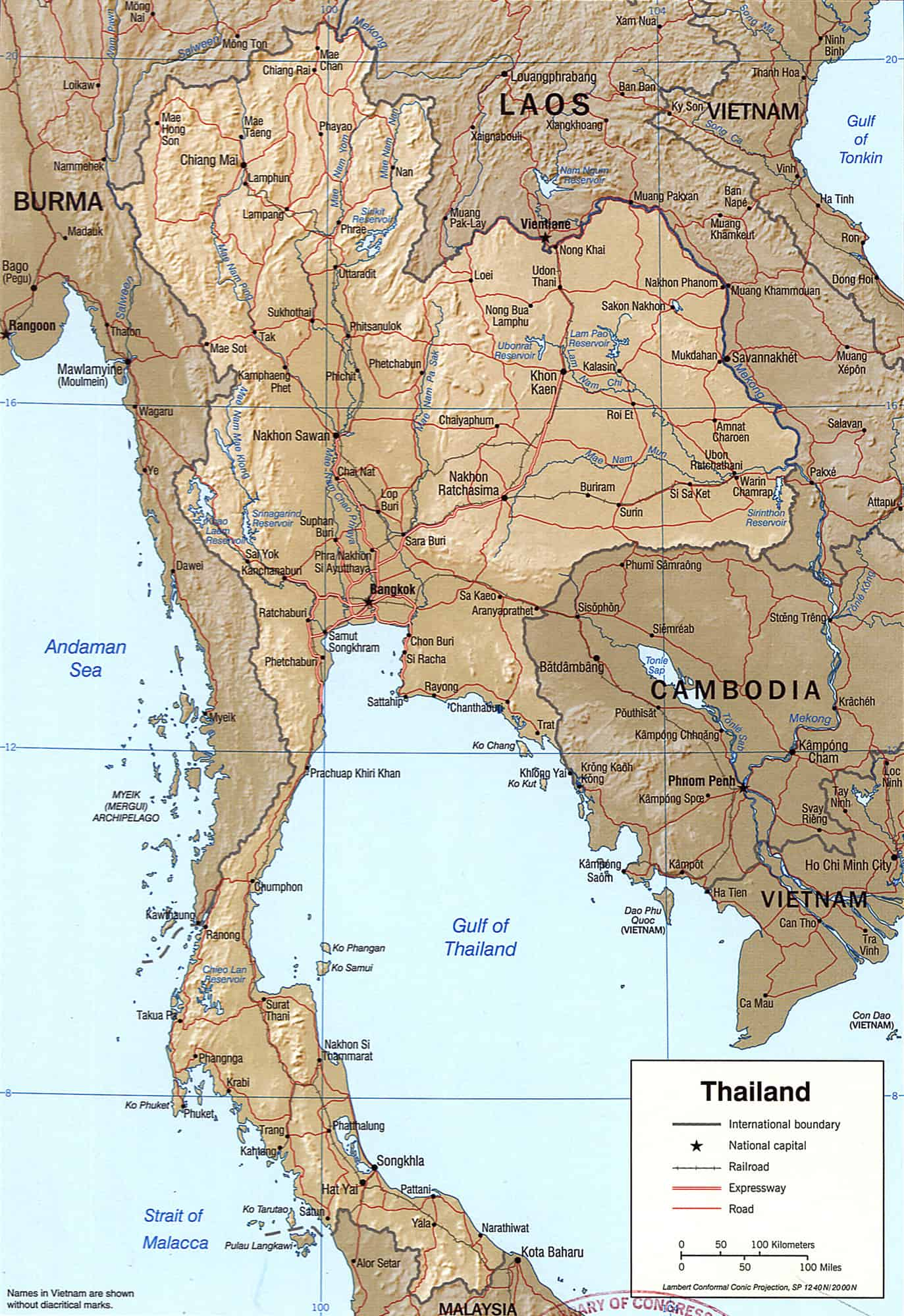 cartina-della-thailandia